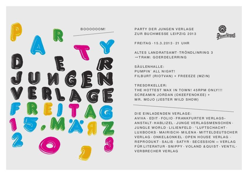 Party der Jungen Verlage 2013 (Leipzig)