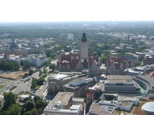 Leipzig von oben mit Neuem Rathaus © Carina Intemann