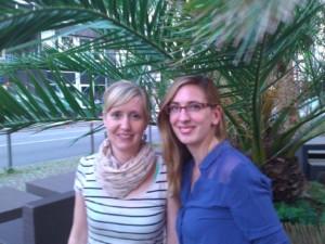 Die Städtegruppeneleiterinnen Anneliese Baas und Ruth Speil