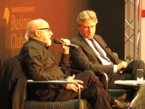 Paulo Coelho (links) und Juergen Boos (rechts) © Sabrina Pöhlmann