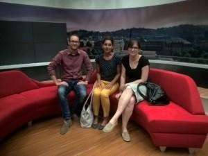 Albrecht, Nuriet und Cornelia von der Städtegruppen-leitung Stuttgart beim SWR (© Sven Scholz)