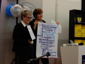 Bücherfrau des Jahres Frauke Ehlers mit ihrer Kollegin Silke Weniger © Alexa Kreßmann