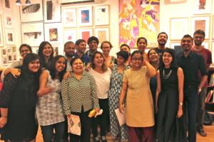 Abschlussfoto am Tag der Zeugnisübergabe mit Bishan Sammadar (2. v. rechts) und Sunandini Banerjee (3. v. rechts hinten) (c) Anna Senft