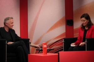 Gegen Wahlen_David van Reybrouck am 3sat-Stand ©Anika Andreßen